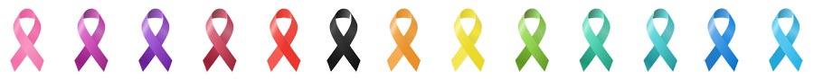 what the colors of cancer ribbons mean