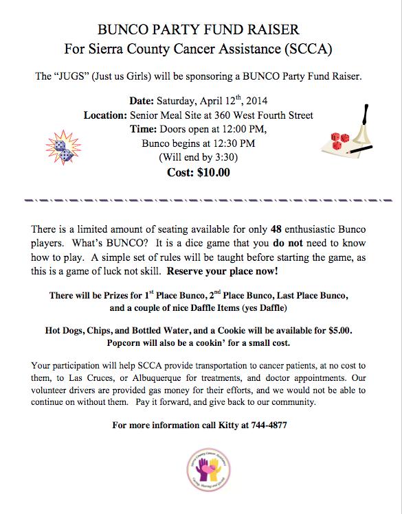 scca-bunco-fundraiser