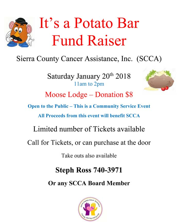 Sierra County Cancer Assistance Potato Bar Fund Raiser