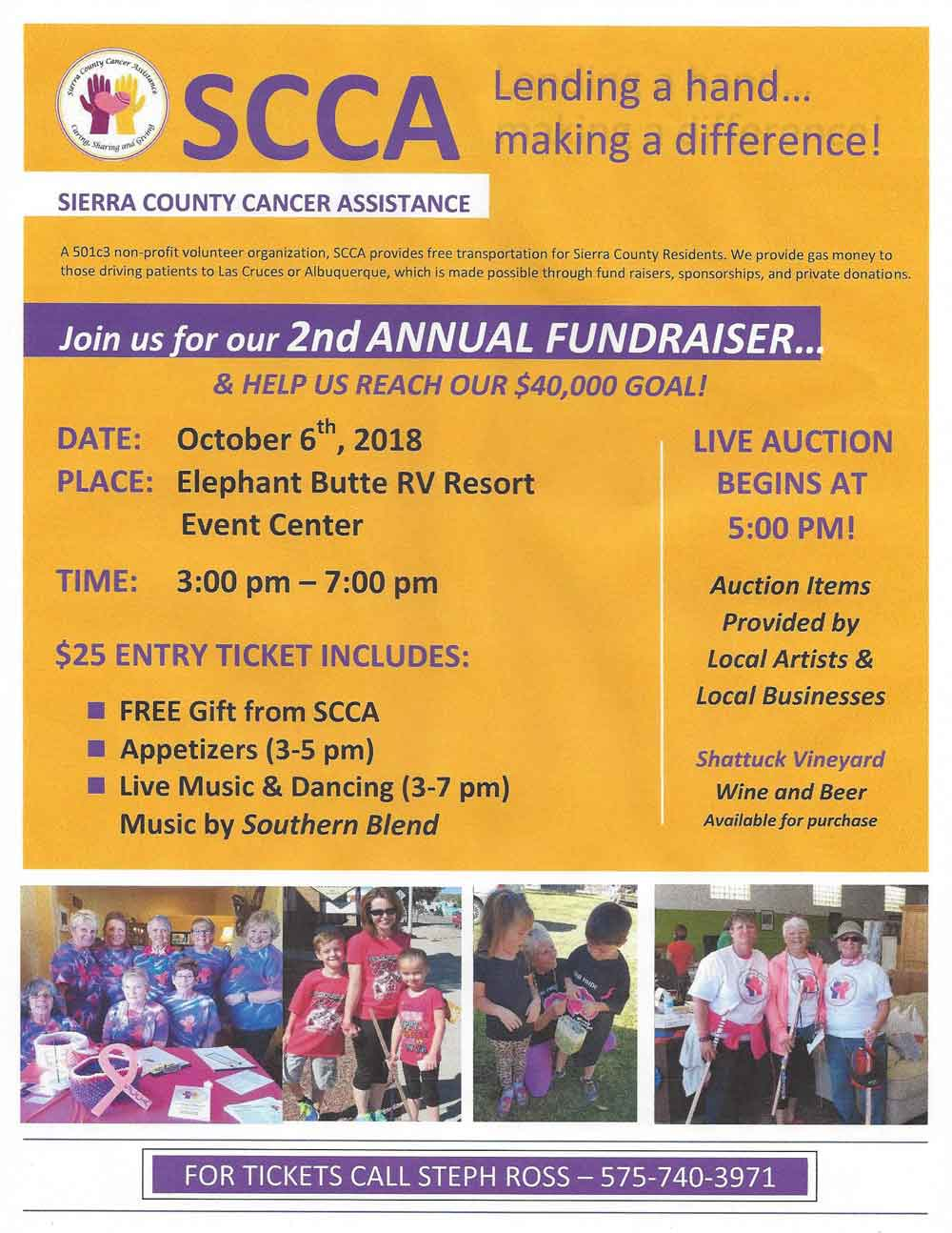 October 2018 fundraiser for Sierra County Cancer Assistance