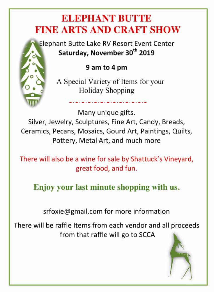 elephant butte fine art and craft show 2019